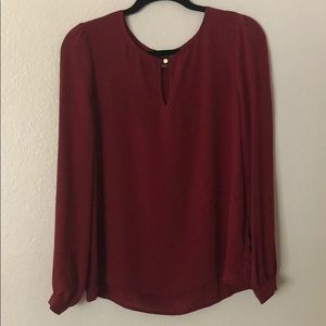 Forever 21 Maroon Keyhole Blouse